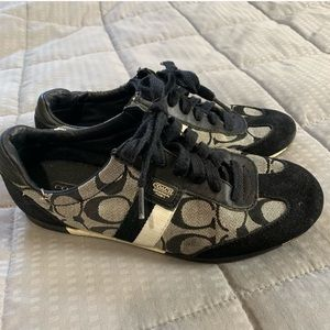 Coach Signature Joss Black & Gray Sneakers Sz 6.5